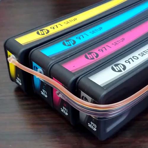 СНПЧ для HP Officejet Pro X - заполненные шлейфы с картриджами