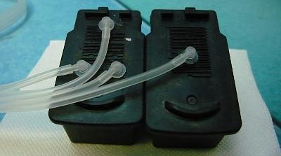 Соединение шлейфа СНПЧ-конструктора с оригинальными картриджами