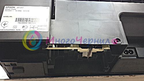 Принтер Epson серии XP со снятым памперсом