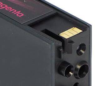 Оригинальный чип на картридже HP 971 Magenta