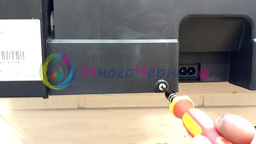 Снятие памперса МФУ Epson - откручиваем винт