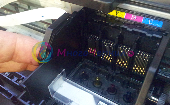 Контакты в каретке принтера Epson
