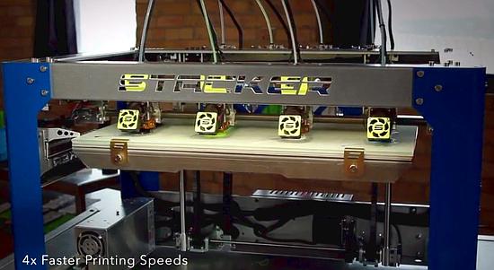 3D-принтер Stacker с 4 печатающими головками