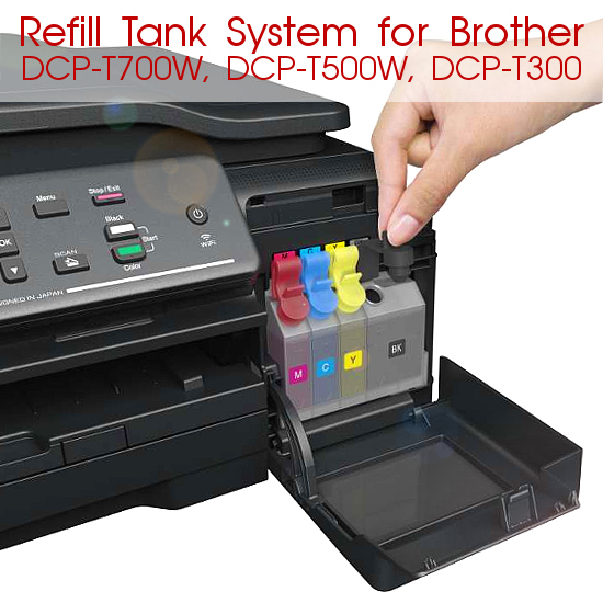 Refill Tank System для Brother DCP-T700W, DCP-T500W, DCP-T300