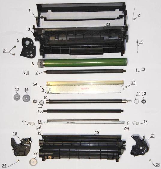 Устройство лазерного картриджа HP
