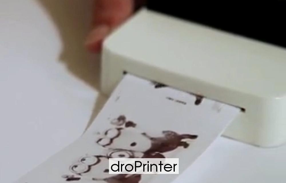 Печать на droPrinter