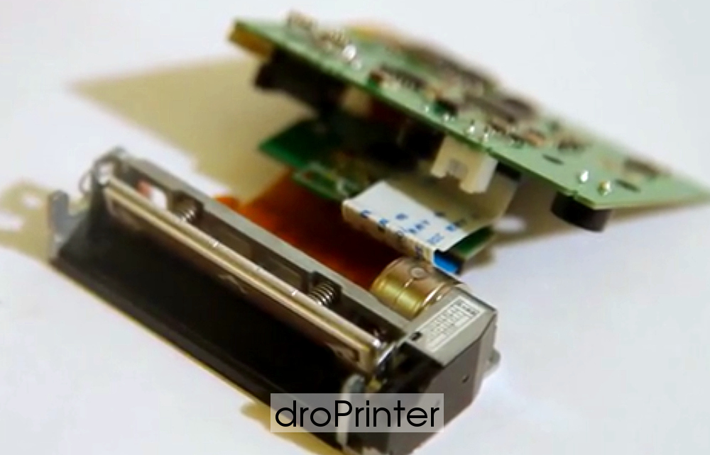 Плата и внутренние механизмы droPrinter