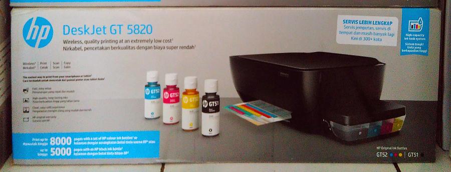 HP GT 5820 в коробке