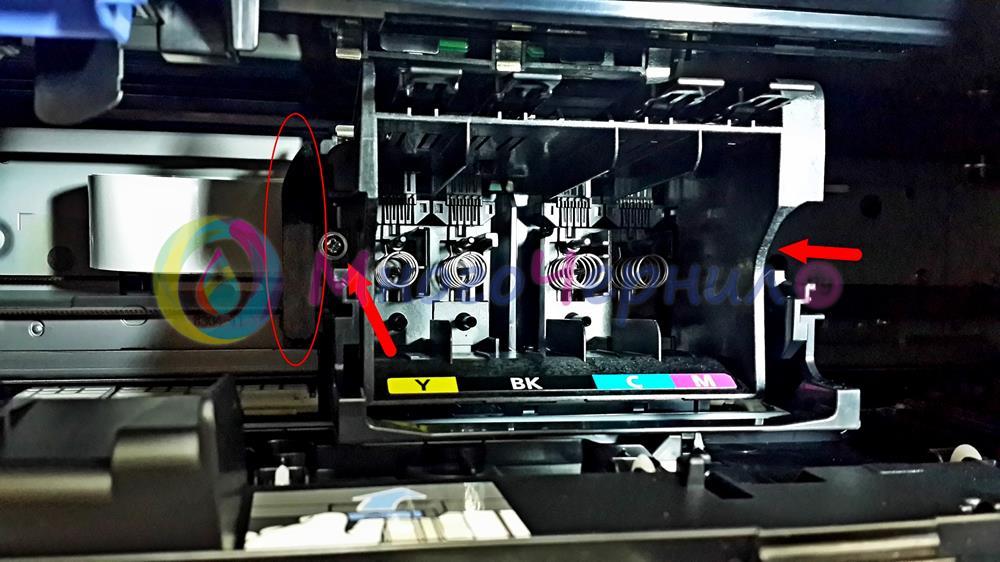 Болт крепления печатающей головки (ПГ) на Canon Maxify