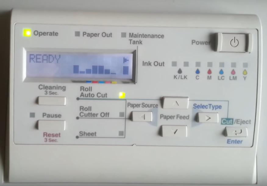 Панель управления Epson Stylus Pro 9600