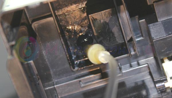 Готовый слив отработанных чернил на Epson