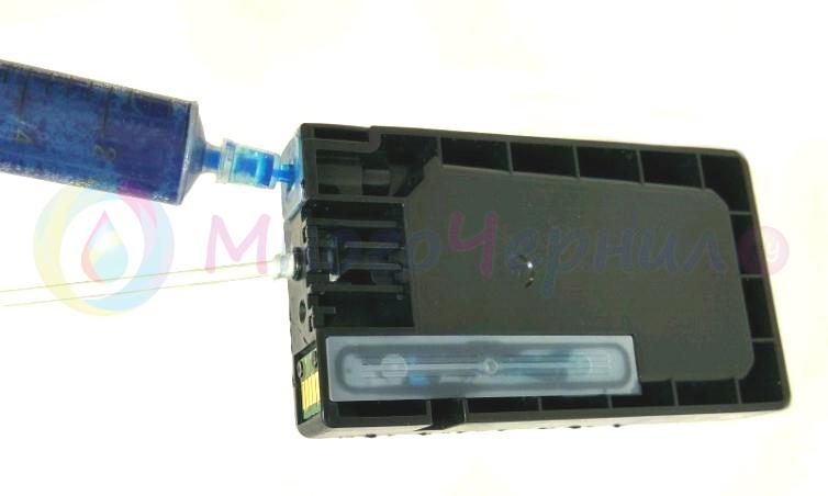 Способ заправки картриджа PGI-1400 через чернильное сопло