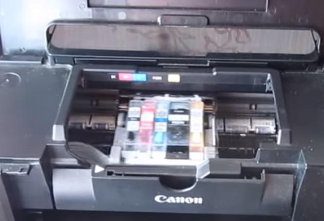 Извлечение печатающей головы Canon PIXMA iP4840 шаг 1