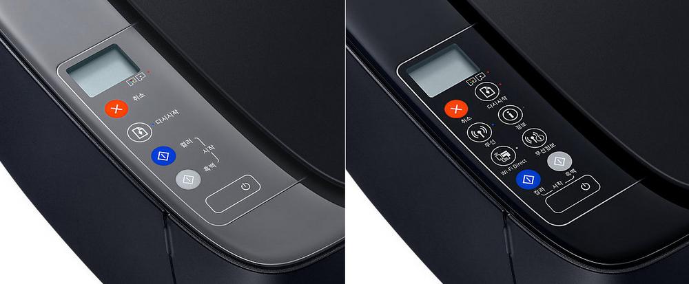 Панели управления Samsung SL-J1560 и SL-J1565W