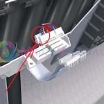 Установка декодера на плоттер HP DesignJet на картриджах 72 - подключение шлейфов