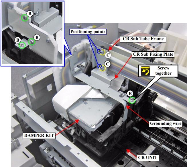 Инструкция по извлечению дэмпфера Epson SureColor SC-T3000-T5000-T7000