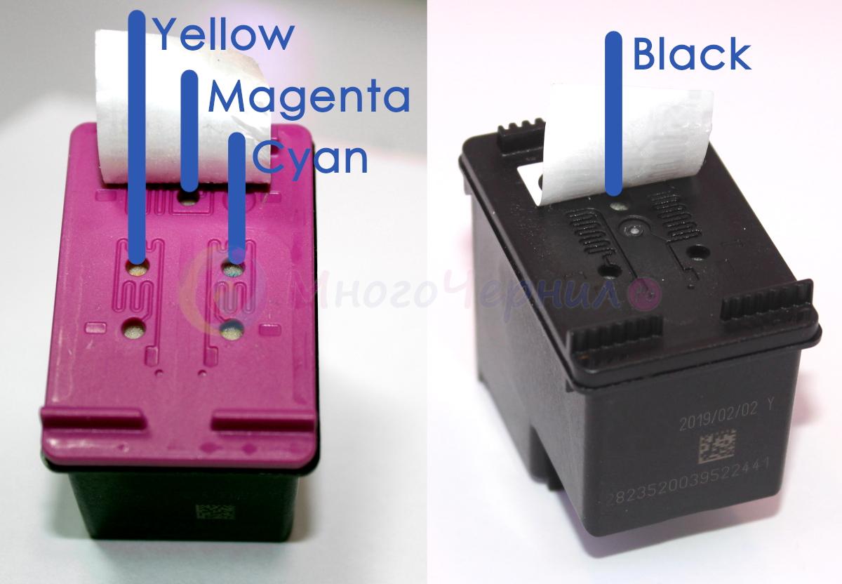 Картриджи HP 651 - где какие цвета