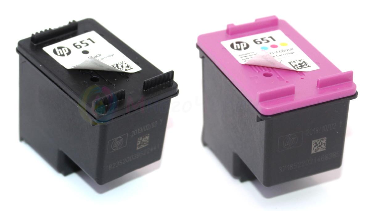 HP 651 - цветной и черный картриджи