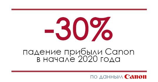 Прибыль Canon упала на 30%