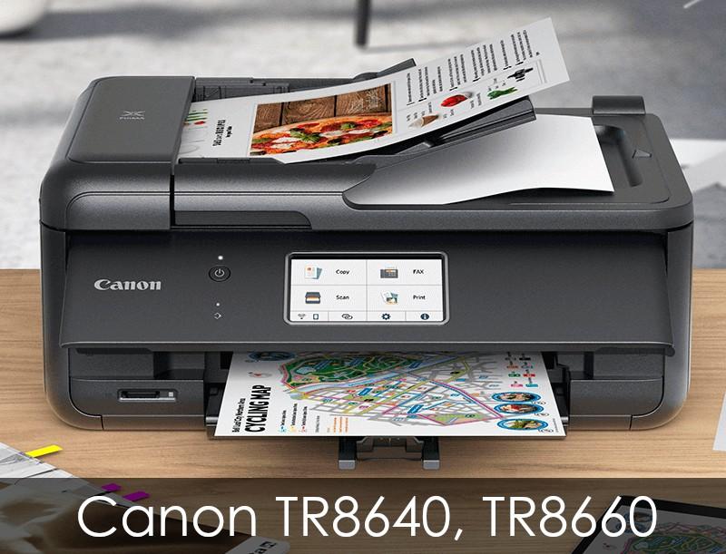 Canon TR8640, TR8660, TR8600 Series