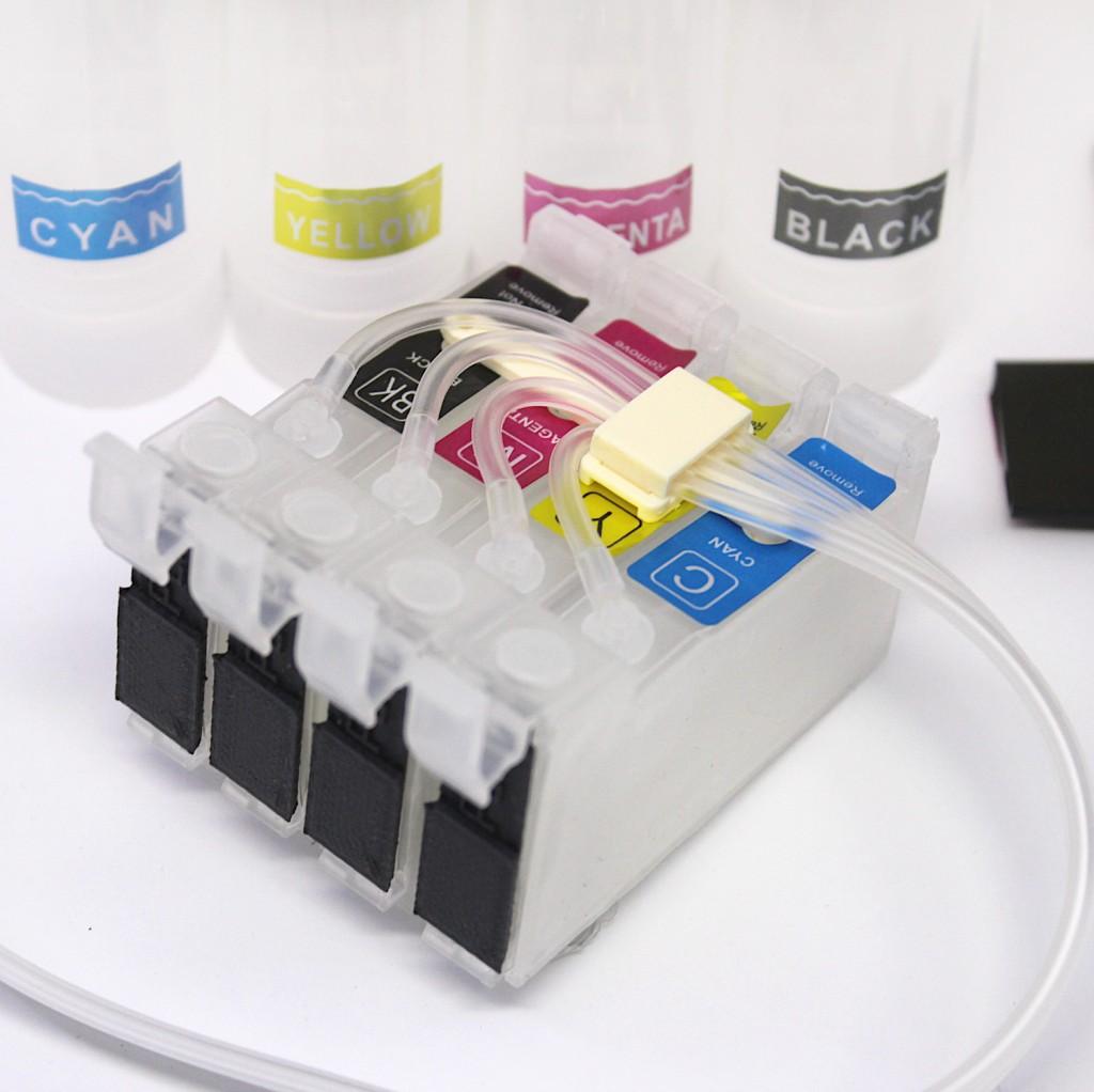 СНПЧ CISS-EPS-4 с заглушками вместо чипов под бесчиповую прошивку