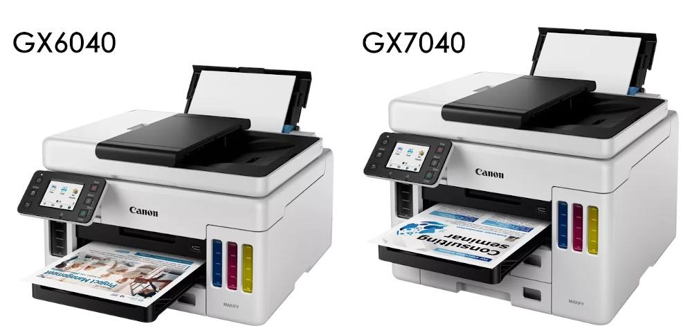 Canon GX6040 и GX7040 - сравнение
